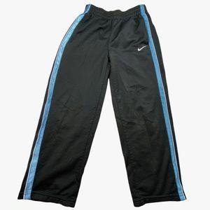 Nike Boy's Size 7 Black, Baby Blue, & White Athletic Mesh Track Pants